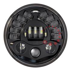 Model 8790M PAR56 LED Motorcycle headlight Black ECE R113 & DOT approved 7 size [4048790MB] - £434.95 : LED Lights, Marker Truck LED Vehicle Lighting Trailers Commercial Lightbars Warning Lights Land Rover