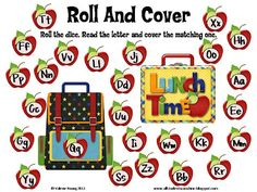 Classroom Freebies Too: ABC Roll and Cover Game