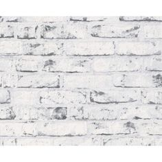 grey brick white washed wallpaper