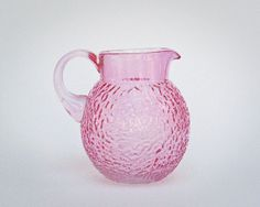 Pink Lido Pattern Glass Ball Pitcher - Anchor Hocking