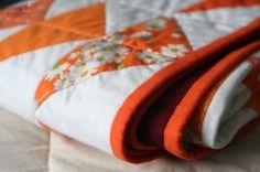 Orange quilt.