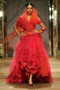 A look by Tarun Tahiliani for Azva at India Bridal Fashion Week. [Courtesy Photo]