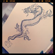 Working on a (not so) little dragon.