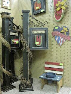 Sugar 'n Spice: New Vendor - Wood Crafts - Porch Posts