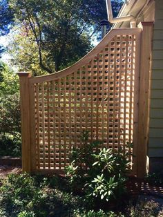 The Cedar Greenwich Square Lattice fence offers a modern look to your home. Our craftsmen construct each panel with the highest quality White Cedar. Diy Pergola, Backyard Privacy, Small Pergola, Backyard Fences, Garden Fencing, Pergola Shade, Backyard Landscaping, Pergola Ideas, Landscaping Ideas