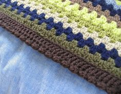 Crochet Blanket Edging | ... edging so i went with lucy s bobble shell edging pattern and although