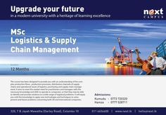 MSc Logistics & Supply Chain Management  MSc Logistics & Supply Chain Management