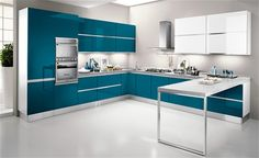 61 ideas kitchen tiles colors layout for 2019 Moduler Kitchen, Kitchen Modular, Kitchen Wall Tiles, Modern Kitchen Cabinets, Kitchen Cabinet Colors, Kitchen Colors, Home Decor Kitchen, Blue Kitchen Designs, Kitchen Room Design