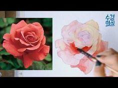 [Eng] 수경쌤의 비밀과외 3편 - 스케치 없이 장미꽃을 수채화로 그려보자 watercolor painting roses without sketch - YouTube