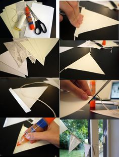 guirlande de fanions a faire soi même garland of pennants to do yourself «Trendy wedding decoration Diy And Crafts Sewing, Diy Crafts, Happy Party, Adult Birthday Party, Wedding Videos, Friend Wedding, Crafts For Teens, Craft Videos, Diy Paper
