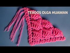 como hacer los flecos para chal tejido a crochet - YouTube