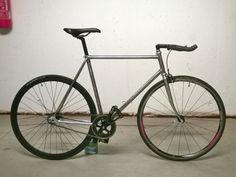 My Maffioletti track Bicycle. Raw finish. Davide Ciulla. #Maffioletti #track #pista #Bicycle #fixed #fixedgear #scattofisso