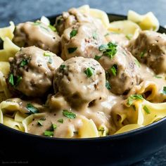 These Easy Swedish Meatballs are a traditional Swedish dish with flavorful homemade meatballs coated in a rich and creamy sauce. Classic comfort food served over noodles for a hearty dinner your family will love. Meatballs Recipe Video, Easy Salads, Easy Meals, Meat Recipes, Cooking Recipes, Swedish Dishes, Swedish Meatball Recipes, The Slow Roasted Italian, Ground Beef Recipes Easy