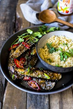 Miso Roasted Aubergine - also knows as Nasu Dengaku. The most delicious vegetarian comfort food flavours of savoury, sweet and spicy Vegetarian Comfort Food, Vegetarian Tacos, Vegetarian Recipes, Cooking Recipes, Healthy Recipes, Vegetable Sides, Vegetable Recipes, Asian Recipes, Ethnic Recipes