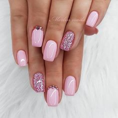 Pretty nails are fierce and courageous. They are oval nails the more - Pretty nails are Oval Nails, Pink Nails, My Nails, Short Square Acrylic Nails, Square Nails, Cute Nails, Pretty Nails, Manicure E Pedicure, Manicure Ideas