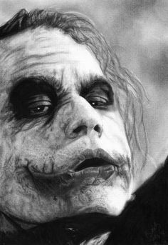 "Drawing With Charcoal DRAWING of the Joker. Done with charcoal - took 34 minutes 56 seconds. Check out my ""Artwork"" board for more of my drawings! Der Joker, Heath Ledger Joker, Joker Dc, Joker And Harley Quinn, Joker Dark Knight, The Dark Knight Trilogy, Batman Vs Superman, Batman Arkham, Batman Art"