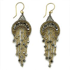 Miguel Ases Jewelry Rainfall Earrings | Pyrite