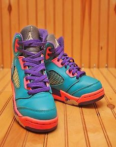 Nike Air Jordan 5 V Retro Size 1Y - Tropical Teal Pink - 440893 307