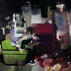 Adrian Ghenie - The Fake Rothko The present work is a deeply personal reworking of the story of Saint Anthony of Egypt, the saint who the devil sought to tempt and seduce whilst in the desert, the archetypal biblical tale of will power put to the test. Ghenie's identification with Saint Anthony, however, is not religious; it rather calls into question the notion of how he should appropriate and revivify the work of artists to whom he is attracted. Speaking about the recent leitmotifs of s...