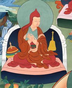 Atisha Dipamkara Shrijñana (Tib. ཨ་ཏི་ཤ་མར་མེ་མཛད་དཔལ་ཡེ་ཤེས་, Atisha Marmézé Pal Yeshé) (982-1054) was a great Indian master and scholar, and author of many texts including the Lamp for the Path of Awakening.   #ColoringForMeditation #TibetanArt #TibetanColoring #Thangka #BuddhistArt #BuddhistColoring