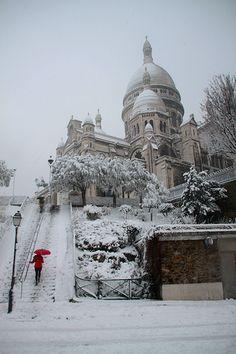 Sacré Coeur in de sneeuw!