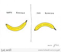 Happy banana / sad banana by Marc Johns