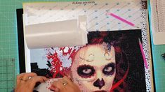 5D Diamond Painting Start to Finish part #3 of 3 Day of the Dead Woman