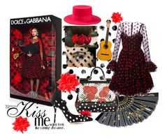 """""""Dots And Kisses"""" by aliceinthenavy on Polyvore featuring Dolce&Gabbana, Yves Saint Laurent, Giambattista Valli and Erika Cavallini Semi-Couture"""