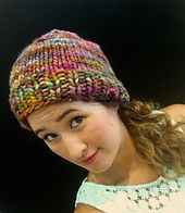 The Rasta Hat is a quick knit using super bulky yarn and size US15 needles. It is easily customizable, adding or subtracting 2sts at a time for larger or smaller head sizes. With a slight slouch, this beanie is perfectly stylish for both the ladies and gents. Knit the body of the hat longer or shorter for a more baggie or fitted look. This fast and fun knit is sure to be a staple in you and yours cool weather wardrobes!