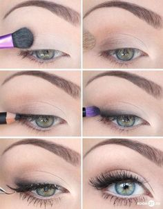 Nude eye - love this look - Click image to find more Hair & Beauty Pinterest pins