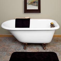 """Miya Cast Iron Roll-Top Clawfoot Tub - 55"""", $1,097 Clawfoot Tubs - Bathtubs - Bathroom"""