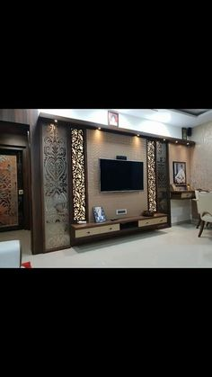 interior designer in thane Lcd Wall Design, House Ceiling Design, Ceiling Design Living Room, Bedroom False Ceiling Design, Living Room Partition Design, Room Door Design, Wall Unit Designs, Living Room Tv Unit Designs, Tv Cupboard Design