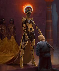 "Dungeons and dragons fantasy art ""I Hereby Dub Thee, Sir Vismeto Knight"" Illustrated by >>>> Steven Sahlberg Nubiamancy currently has a crowdfunding campaign with the goal of creating short films based on content posted on our page. Black Girl Art, Black Women Art, Black Girl Magic, Dc Super Heros Girl, Fantasy Wesen, Fantasy Art, Black Comics, Knight Art, Queen Art"