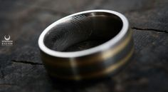 My fingerprint engraved into his ring- by Titanium studio