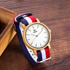 New arrival Fashion Wooden Watch Women's Bamboo Wood Watch Men's Quartz Nylon Wristwatches Gift Watch relogio