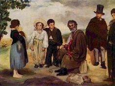Le vieux musician by Edouard Manet.