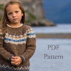 "Knitting PATTERN // PDF download, Child's Icelandic Sweater ""Fjall"", by North Child"