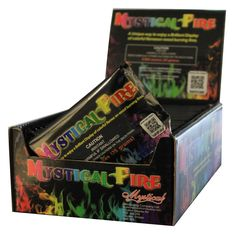 Mystical Fire Flame Colorant produces brilliant, captivating colors for indoor fireplace or outdoor fire pit. Just drop an unopened pouch on the fire and watch the long-lasting, vibrant colors go on and on.