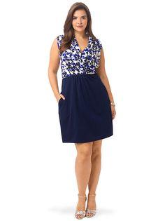 Splatter Print Shawl Collar Dress