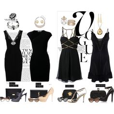 """Black dress"" by sdiana-1 on Polyvore"