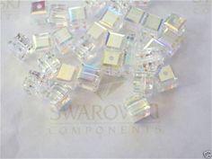 6 Siam AB Swarovski Crystal Beads Cube 5601 for sale online Swarovski Crystal Beads, Craft Materials, Cube, Crafts, Ebay, Manualidades, Handmade Crafts, Craft, Arts And Crafts