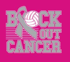 pink out volleyball | CF Volleyball Block Out Cancer