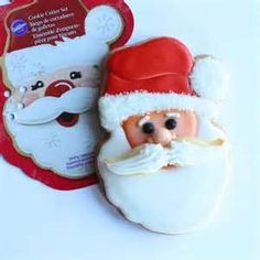 wilton santa cookie cutter with mustache - Bing Images