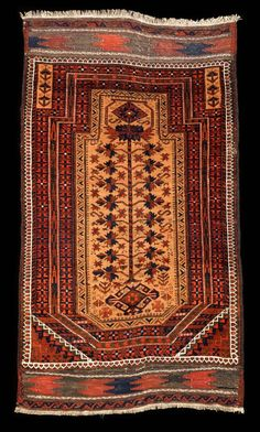 Culture Baluchi people Creation date late 19th century Collection Textiles Materials wool Dimensions 28 x 40 in. | 71.1 x 101.6 cm.