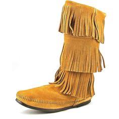 Minnetonka Women's '3 Layer Fringe' Regular Boots