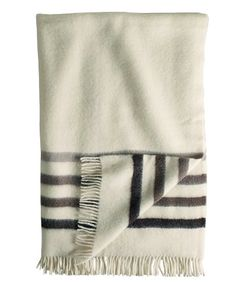 Hudson Bay Capote Throw Natural with Brown Stripes