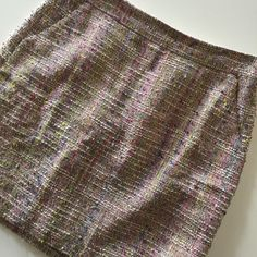 """• J. Crew • Tweed skirt • Multicolor • Worn twice • Exposed zipper • Excellent condition • 34% Cotton, 34% Viscose, 29% Silk, 3% Other Fibers • 17"""" in length • 15"""" waist • NO TRADES/HOLDS • All reasonable offers accepted • J. Crew Skirts"""