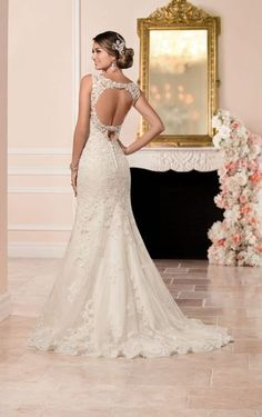 6335 Lace Fit and Flare Wedding Dress by Stella York