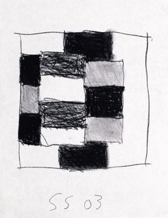Sean Scully, Untitled Drawing 10 2003 Charcoal on paper Art Sketches, Art Drawings, Sean Scully, Composition, Texture Drawing, Colour Field, Artist Gallery, Art Education, Quilting Designs