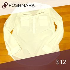 Sheer white blouse Preloved old navy blouse. 100% polyester. Machine washable. No rips tears or stains. Bundling available. Smoke free home. Old Navy Tops Blouses